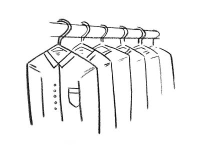 Illustration for Thread.com's Jobs Page fashion illustration