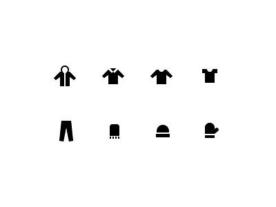 Clothing Category Icons for Thread.com