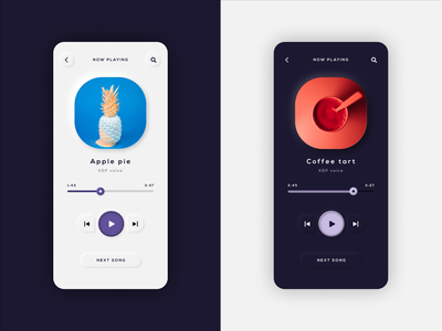#009  Music Player light mode dark mode neumorphism music player ui music player music app minimal app ux ui design