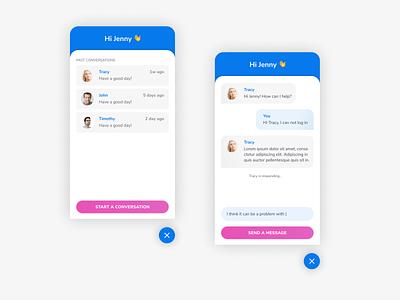 #013  Direct Message product design helpdesk conversational ui design ui chat bot