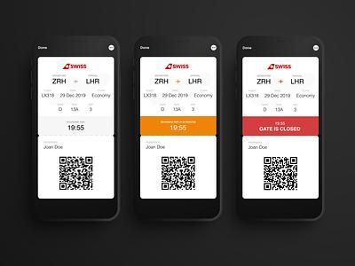 #024  Boarding Pass ticket pass app wallet app wallet ui helvetica boarding pass
