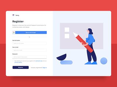 #082 -  Form saas website product design sign in signup register web form form ui web design