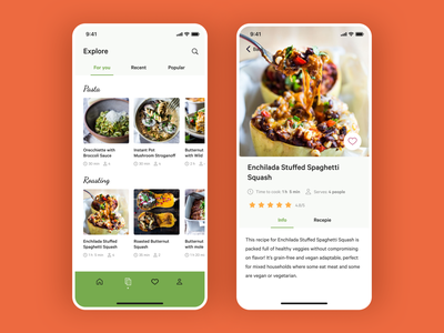 Curated for you mobileui mobile uxdesign ios app design ios app uidesign recipe app food app app app design product design ui