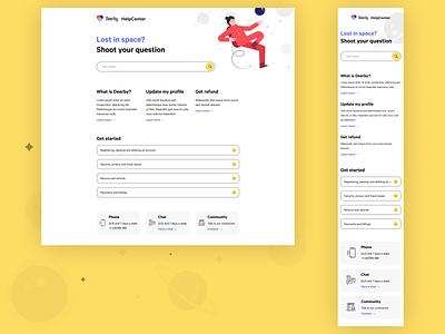 FAQ search faq contact webapp desktop design mobile design responsive startup tech help center help web design design ux app design app product design