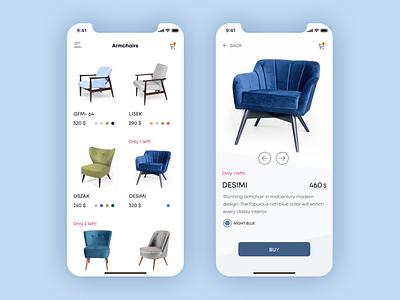 In Stock furniture website explore product page app online store e-commerce app furniture app app design uxdesign mobile ux design web design ui product design