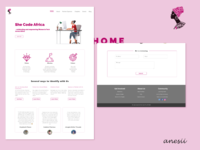SheCodeAfrica Submission web website shecode shecodeafrica web design agency web design design