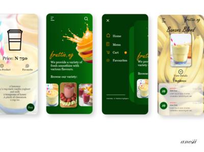 Banana Blend Smoothie smoothies smoothie food fruttie mobile design