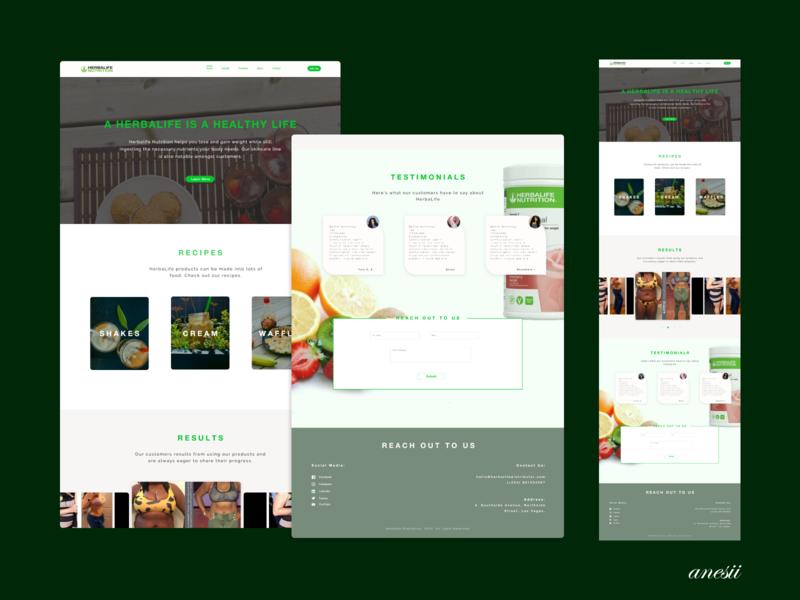 Herbalife Webpage nutrition herbalife webpage design webpage smoothie fruits food