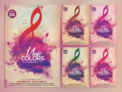 Music Colors Photoshop Flyer Template