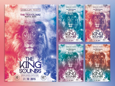 The King Sounds Photoshop Flyer Template