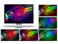 Rainbow Abstract Photoshop Background Template