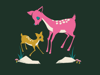 Mama Deer //  Gig poster WIP