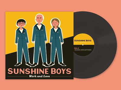 Sunshine Boys Album artwork album cover design album artwork album album art record cover artwork cover design cover art vinyl record vinyl vector illustration design