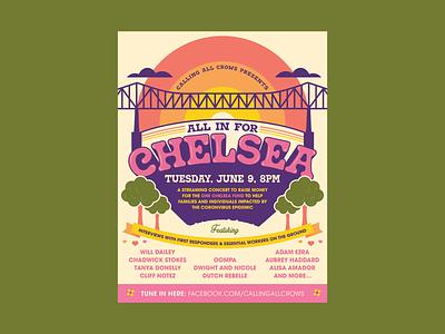 Chelsea Benefit Poster gig poster poster design vector illustration design