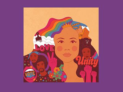 Album cover illustration vinyl record album artwork vector illustration design