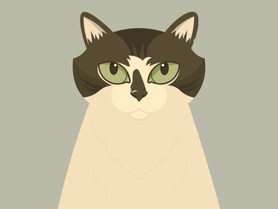 This is Dr. Cuddles (kitty portrait WIP) cats vector illustration design
