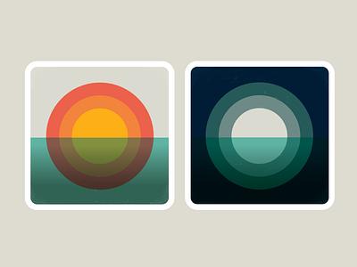 Day and Night vinyl record album artwork illustration vector design
