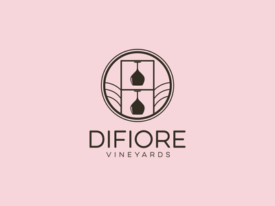 DiFiore Vineyards Logo branding wine logo vector illustration design