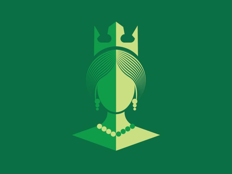 Queen queen logo vector illustration design