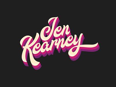 Jen Kearney Logo Type script lettering vector musiclogo logotype typogaphy typography logo