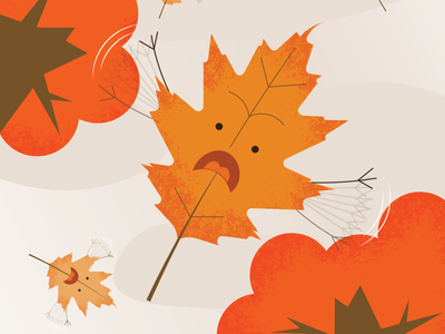 Leaves falling to their deaths art fall leaves illustration vector design
