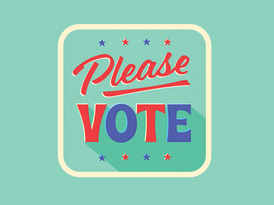 Please VOTE! retro design election vote vote2020 typography vector illustration design