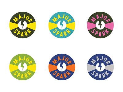 Major Spark Logo band merch band logo music logo badge vector logo graphic design design