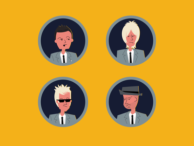 Shady Characters faces character design character album artwork vector illustration design