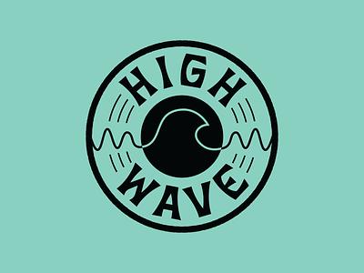 High Wave Records Logo record label music vinyl record branding typography logo vector illustration design