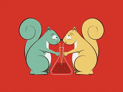 science squirrels science animals squirrels gig poster poster design vector illustration design