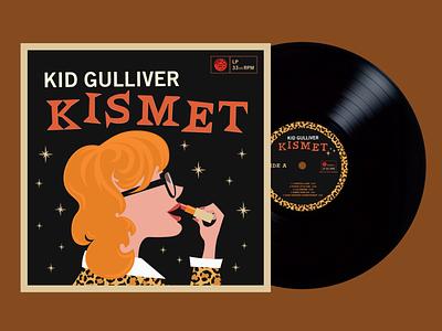 """Kid Gulliver """"Kismet"""" Album Artwork cd packaging cd design vinyl record record art record cover album artwork album design vector illustration design"""