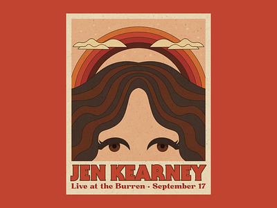 Gig poster for Jen Kearney music poster concert poster 70s typography vector gig poster poster design illustration design