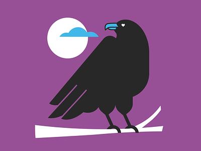 Raven drawing bird raven vector gig poster poster design illustration design