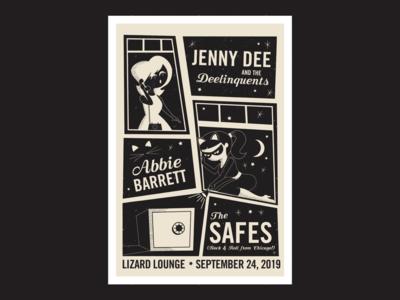 The Safes Gig Poster