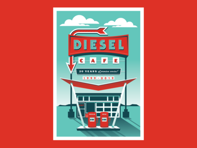 Diesel Cafe Anniversary Poster