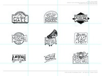 Music Hall Logo Sketches