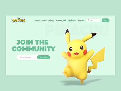 Pokémon fan website fan website fansite fan ux ui design website design web design webdesign website web art cartoon character cartoon anime art animeart anime pikachu pokémon go pokémon