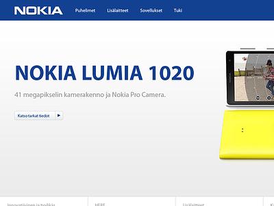 Nokia.fi webdesign ui design redesign pitch
