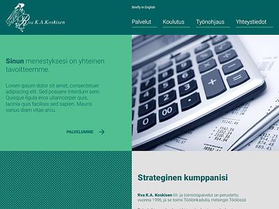 Tilikoskisen - Web design for accounting firm cms frontend web design