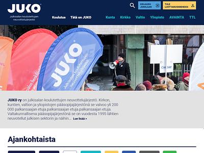 JUKO Etusivu 2019 layout interface web design