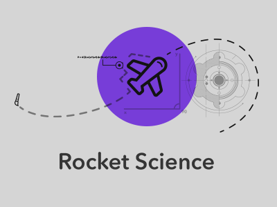 Rocket Science rocket ui line gear science purple gray