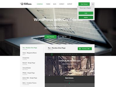TeoThemes homepage green wordpress flat awesome