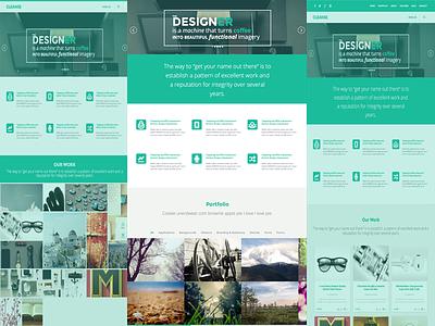 Cleanse template clean green template modern portfolio