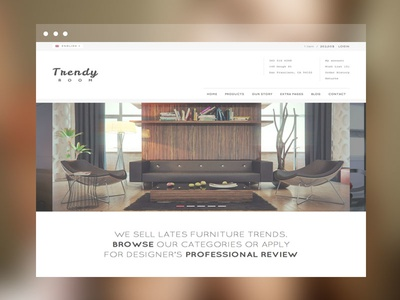 TrendyRoom E-Commerce Template e-commerce white template shop