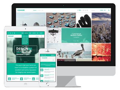 Cleanse Minimal Portfolio WordPress Theme clean green wordpress modern portfolio minimal
