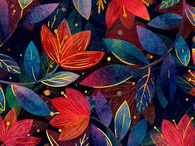 Flower botanical textile flower pattern print design art illustrator watercolor illustration