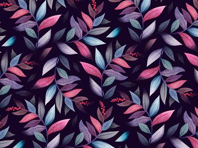 Pattern print flower botanic plant fabric textile texture pattern character design watercolor illustration