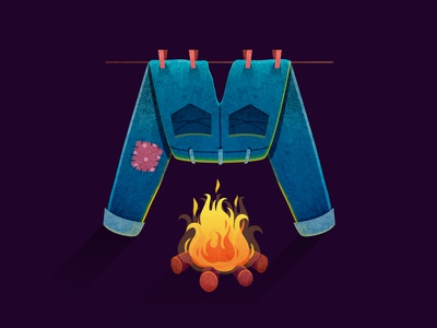 36daysoftype_M 36daysoftype08 36daysoftype fire jeans forest lettering letters typogaphy type book texture art print design illustrator watercolor illustration