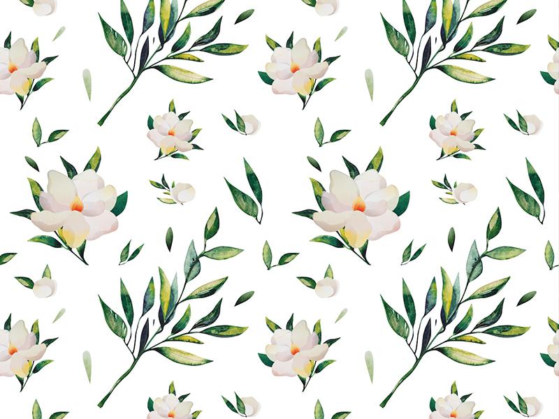 Flower pattern print texture background leave pattern flower