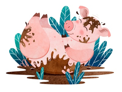 Pig childbook kid book bookillustration pig person illustrator art character illustration